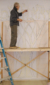 Artist David Klass of Synagogue Art: Drawing of Synagogue Ark for Temple Beth El, Salinas, CA