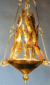 "Eternal Light / Ner Tamid by David Klass of Synagogue Art: Young Israel of Woodmere, Woodmere, NY  Welded brass and copper, 18""h x 14""w"