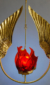 "Eternal Light / Ner Tamid by David Klass of Synagogue Art: Seraphim Eternal Light, New York City  Brass and glass, 24""h"