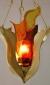 "Eternal Light / Ner Tamid by David Klass of Synagogue Art: Santa Clara Synagogue, Santa Clara, Cuba  Brass and glass, 16""h"