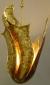 Eternal Light / Ner Tamid by David Klass of Synagogue Art: Shin Design  Welded brass on copper