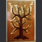 Tree of Life by David Klass of Synagogue Art: Mahogany, cherry and brass