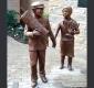Bronze Statues by David Klass of Synagogue Art: Schenker Holocaust Memorial Garden, Congregation Beth Emeth, Wilmington, DE