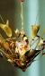 "Eternal Light / Ner Tamid by David Klass of Synagogue Art: Sinai Reform Temple, Massapequa, NY Brass and glass, 16""h x 16""w"